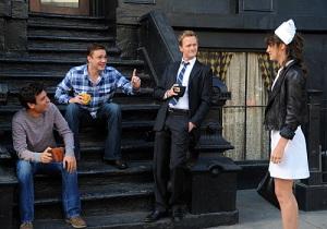 Barney, Robin, Ted, Marshall