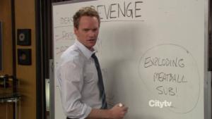 Barney in Explodin meatball sub